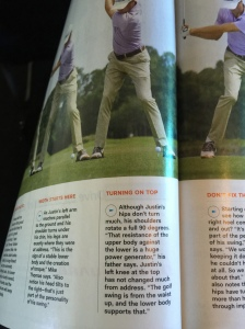 In the same golf digest magazine, this is a power move.  Look at the picture of Justin Thomas and what the caption says.