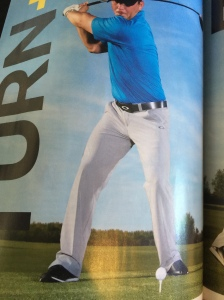 This picture also contradicts his article with regards to the right leg.